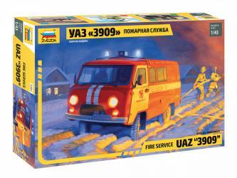 Фото Сборная модель УАЗ 3909 Пожарная служба (43001)