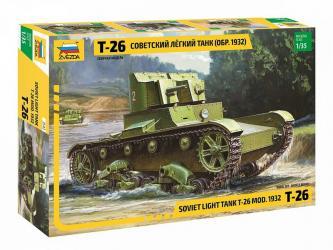 Сборная модель Советский легкий танк Т-26 обр. 1932 г двухбашенный (3542) фотография 1