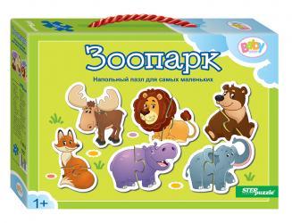 Фото Пазл половинки для самых маленьких Зоопарк (70121)