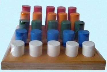 Деревянная игрушкаВтыкалка Цилиндрики 5х5 фотография 1