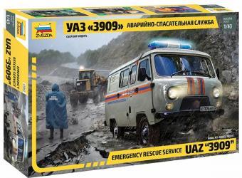 Сборная модель УАЗ 3909 Аварийно-спасательная служба (43002) фотография 1