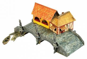 Фото Сборная модель из картона Торговый мост (537)