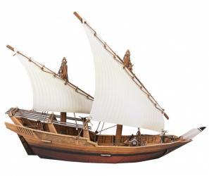 Фото Сборная модель из картона Корабль Арабский Дау (407)