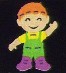 Фото Игрушка шнуровка мягкая Мальчик