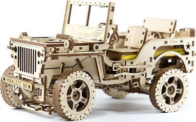 Фото Сборная деревянная модель Джип 4х4 Внедорожник (309)