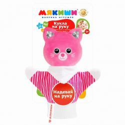Фото Мягкая игрушка на руку Мякиши Кошка (465)
