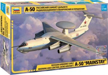 Фото Сборная модель Российский самолет дальнего радиолокационного обнаружения и управления А-50 (7024)