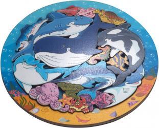 Фото Деревянный пазл Зоопазл Подводный мир 16 дет. (8114)