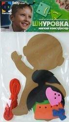 Игрушка шнуровка мягкая Девочка фотография 2