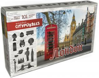 Фото Фигурный деревянный пазл Лондон, 101 элемент (8222)