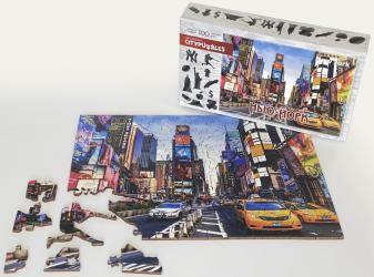 Фигурный деревянный пазл Нью-Йорк Citypuzzles фотография 2