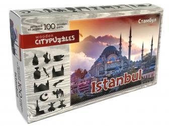 Фото Фигурный деревянный пазл Стамбул Citypuzzles, 100 элементов