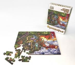 Фото Фигурный деревянный пазл Страна сказок Лукоморье, 65 элементов