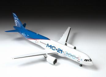 Сборная модель Пассажирский Авиалайнер МС-21-300 (7033) фотография 8