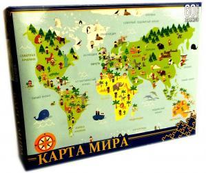 Фото Пазл Карта мира  60 эл (8061)