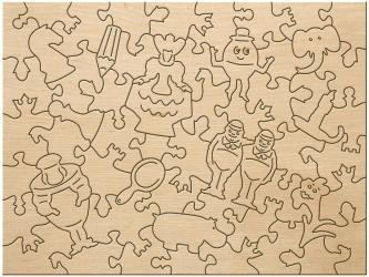 Фигурный деревянный пазл Страна сказок Алиса в Зазеркалье, 60 элементов фотография 4