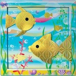 Геометрическая аппликация Золотая рыбка (АБ 15-106) фотография 2