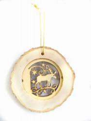 Фото Деревянная подвеска Звездный лось