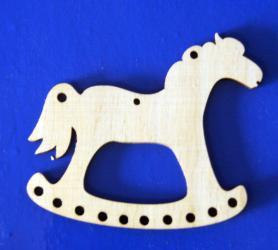 Фото Подвеска деревянная Лошадка-качалка 10 см