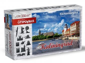 Фото Фигурный деревянный пазл Калининград Citypuzzles
