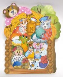Фигурный деревянный пазл для малышей Теремок 9 дет фотография 2