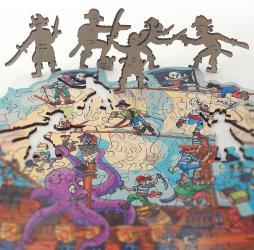 Фигурный деревянный пазл Пиратский корабльFUN ART collection фотография 3