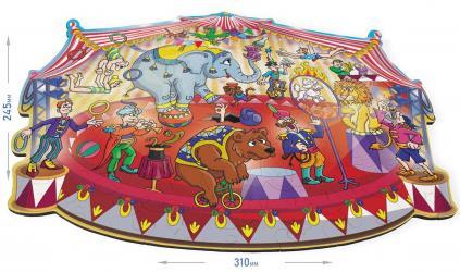 Фигурный деревянный пазл ЦиркFUN ART collection фотография 2