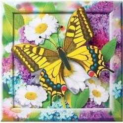 Объемная аппликация Золотистая бабочка (АБ 41-201) фотография 2