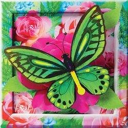 Объемная аппликация Изумрудная бабочка (АБ 41-204) фотография 2