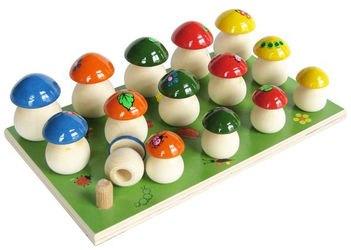 Фото Развивающая игра Грибы на полянке 15 штук