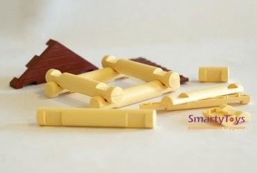 Конструктор пластиковый из бревнышек Домики для гномиков тип-2 фотография 3