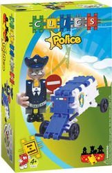 Фото Конструктор Clics Полицейский с машиной (СС015)