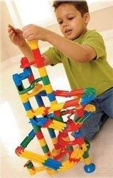 Конструктор-лабиринт с шариками Соединяющиеся дорожки (113 дет, 6151) фотография 2