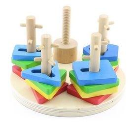 Деревянная развивающая игрушка Логический круг (Д019) фотография 2