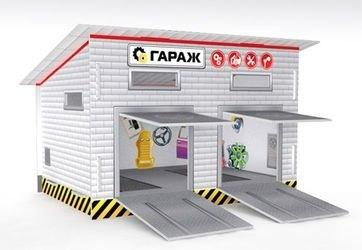 Сборная игрушка Гараж фотография 3