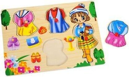Фото Рамка-вкладыш Девочка с одеждой (Буратино)