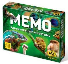 Фото Настольная игра Мемо Удивительные животные