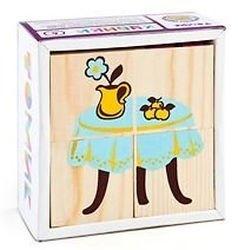 Фото Кубики деревянные Мебель 4 эл.