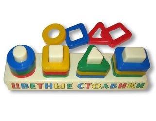Фото Развивающая игрушка сортер Цветные столбики