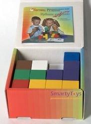Игры Никитина Кубики для всех деревянные в картонной коробке фотография 3