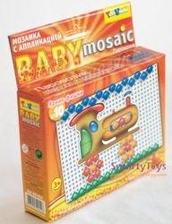 Мозаика для детей с аппликацией Паровозик 55 дет, 10 мм (00-012) фотография 2