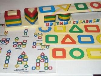 Развивающая игрушка сортер Цветные столбики фотография 2
