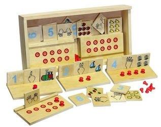 Фото Развивающий набор Счет от одного до десяти деревянный (1513)