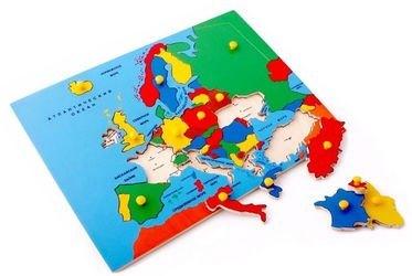 Фото Деревянная рамка-вкладыш Карта Европы