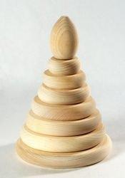 Фото Деревянная Пирамидка 8 деталей неокрашенная