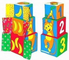 Мягкие кубики Мякиши-башенка Умная мартышка фотография 2