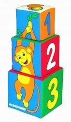 Мягкие кубики Мякиши-башенка Умная мартышка фотография 5
