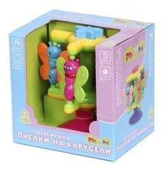 Развивающая игрушка для малышей на присоске Пчелки на карусели фотография 2