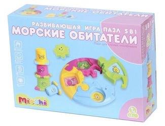 Развивающая игра-пазл для малышей 5 в 1 Морские обитатели фотография 2