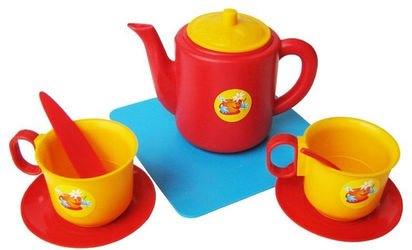 Фото Игрушечная посуда чашки с чайником (21002)